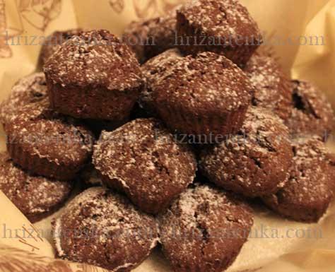 Шоколадні кекси-сердечки