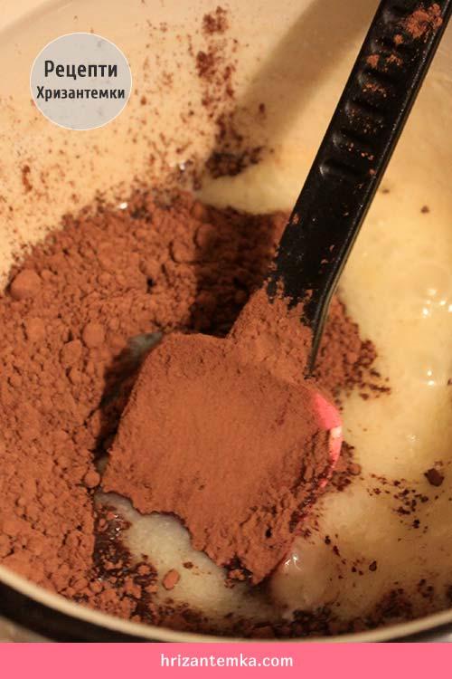 Шоколадна глазур на сметані