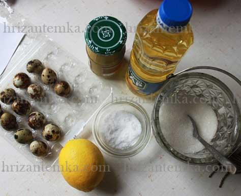 Домашній майонез із лимонним соком: інгредієнти