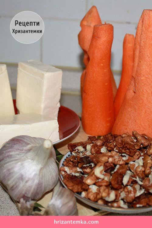 Часниковий салат з морквою